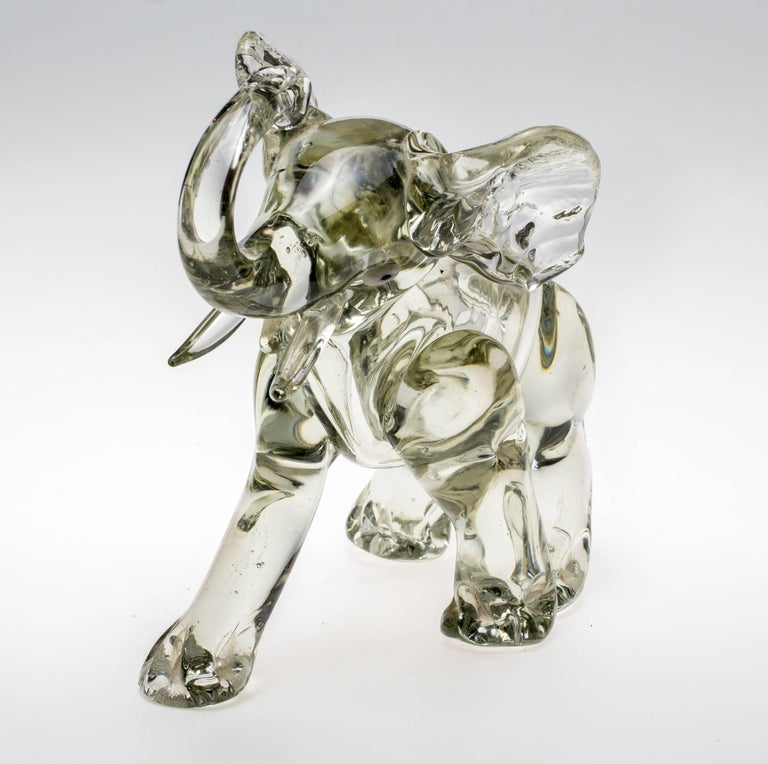 Art Glass Murano Glass Elephant Figurine For Sale