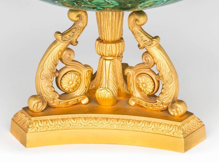 Malachite and Gilt Bronze Doré Center Bowl For Sale 2