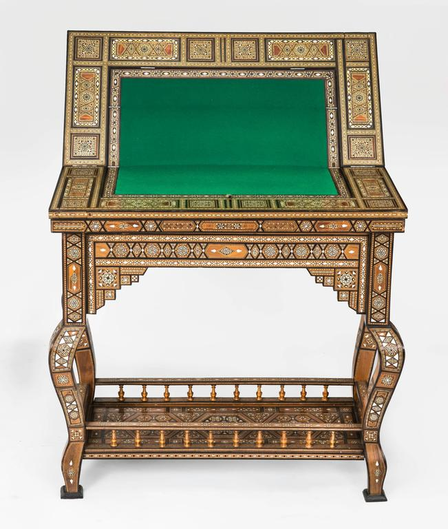 Early 1930s Syrian Game Table. Amazingly Intricate And Beautifully Executed  Inlay Work In Various Wood
