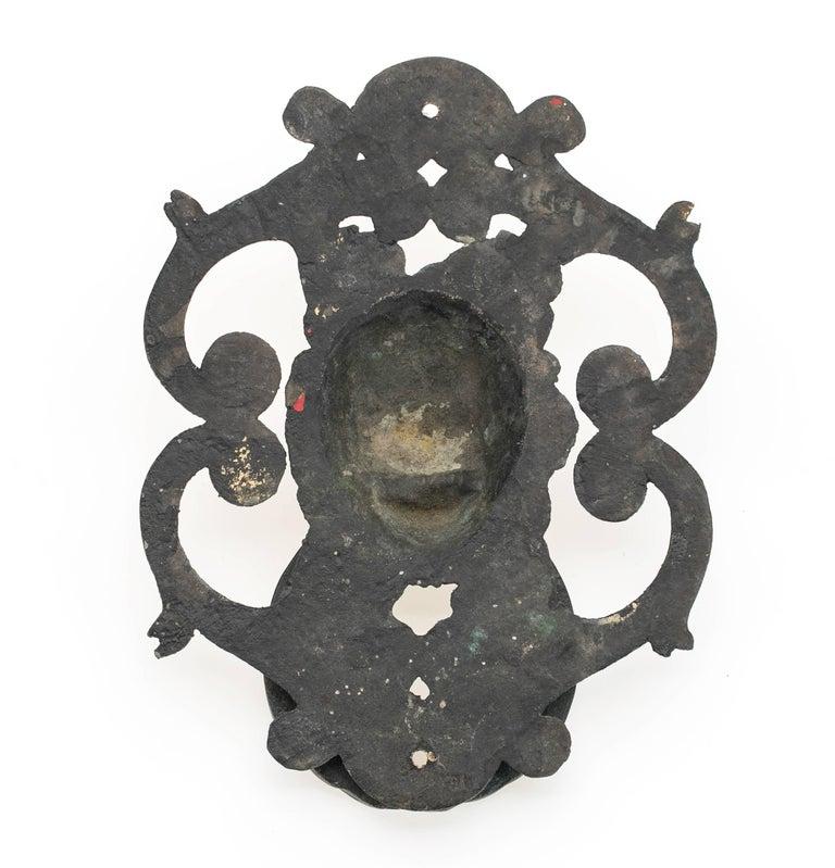 Antique Bronze Lion Face Door Knocker For Sale 2
