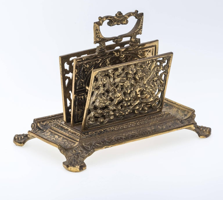 French brass letter holder for sale at 1stdibs for Furniture 5 letters