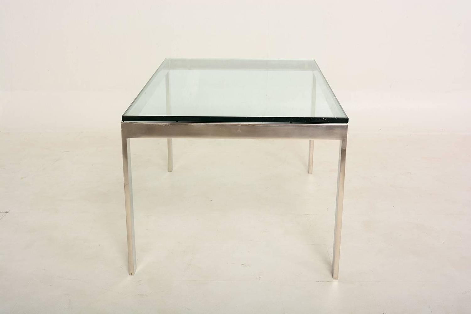 Stainless Steel And Glass Coffee Table For Sale At 1stdibs