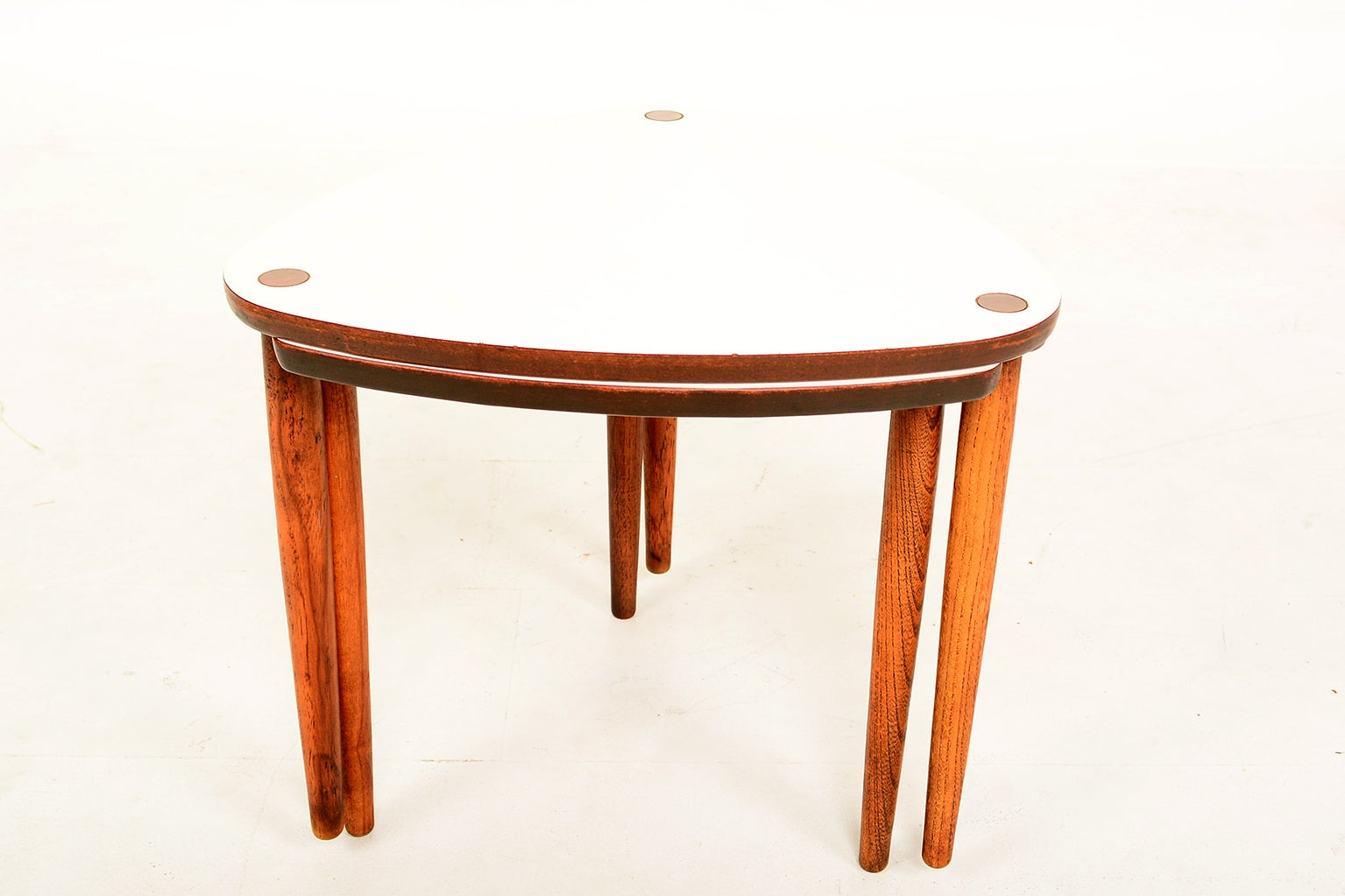 Mid Century Modern Triangular Nesting Tables For Sale At 1stdibs