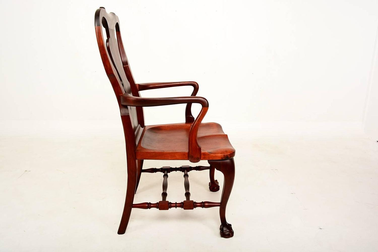 Solid Mahogany Chair Chippendale Style Claw Feet For Sale At 1stdibs