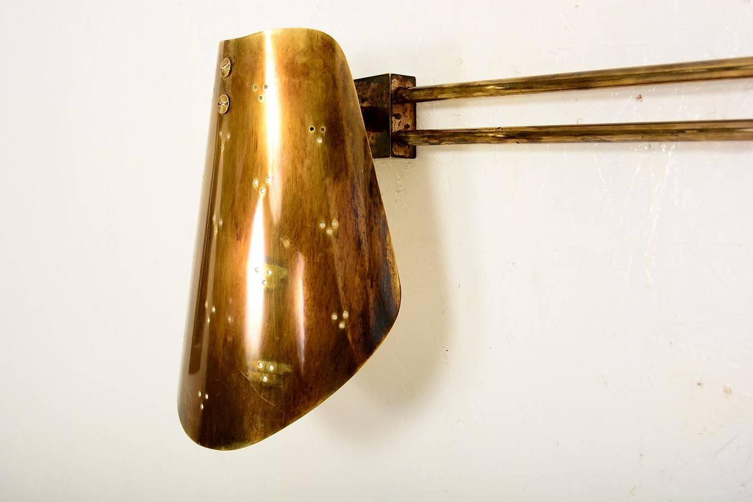 Brass Wall Double Sconce at 1stdibs