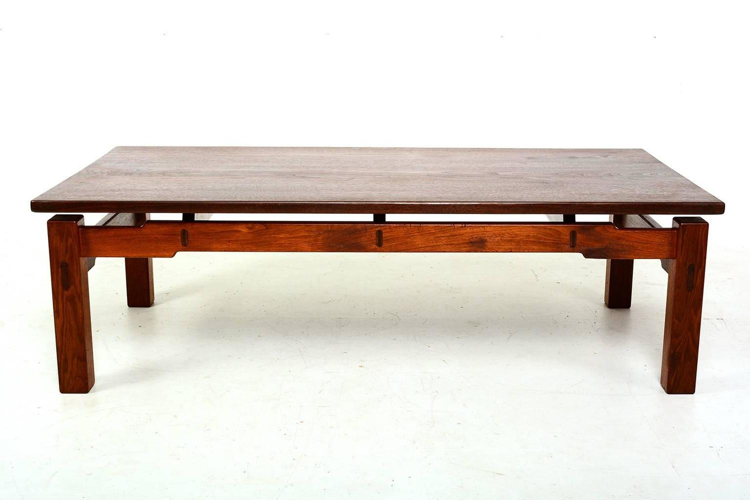 Solid teak coffee table for sale at 1stdibs Solid teak coffee table