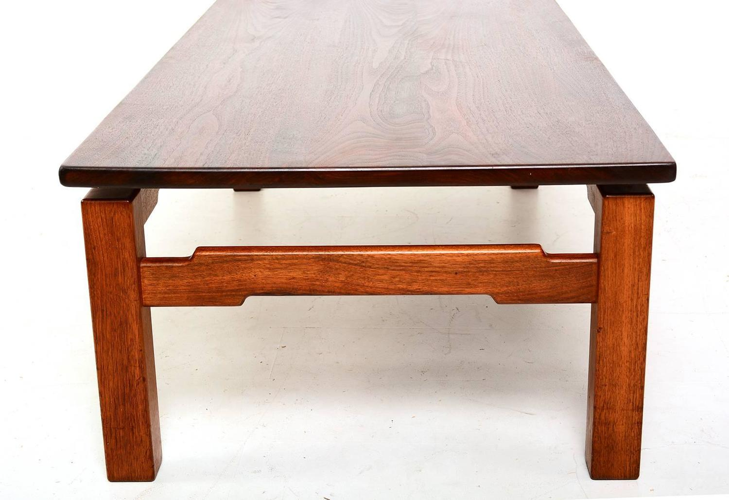 Mid century modern studio solid teak coffee table for sale at 1stdibs Modern teak coffee table