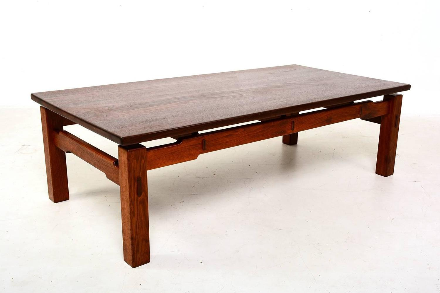 Solid Teak Coffee Table For Sale At 1stdibs