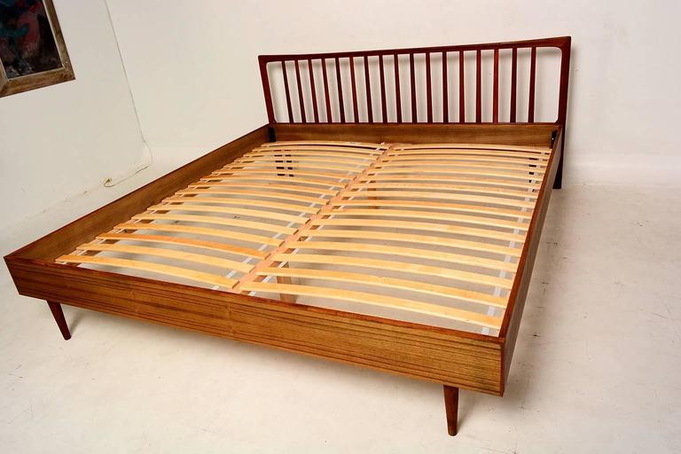 Danish Modern King Teak Bed Frame And Headboard At 1stdibs