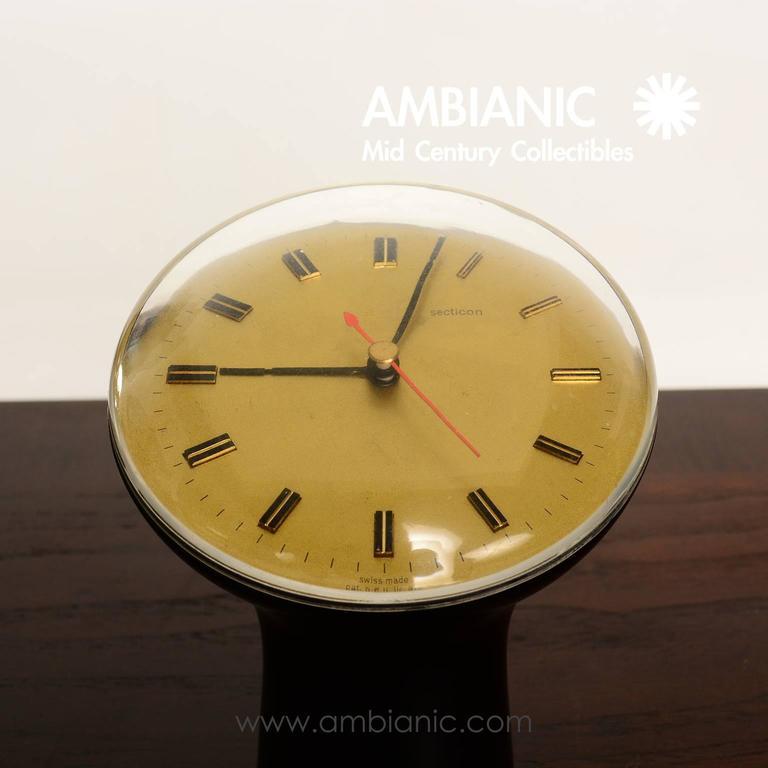 Angelo Mangiarotti Table Desk Clock for Secticon For Sale