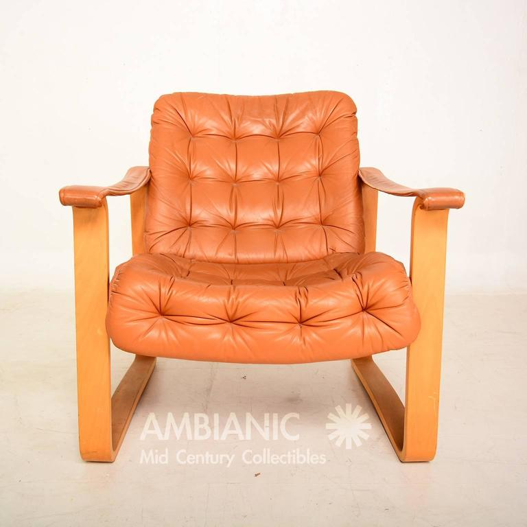 finland leather armchair danish midcentury modern oy bj dahlqvist ab finland