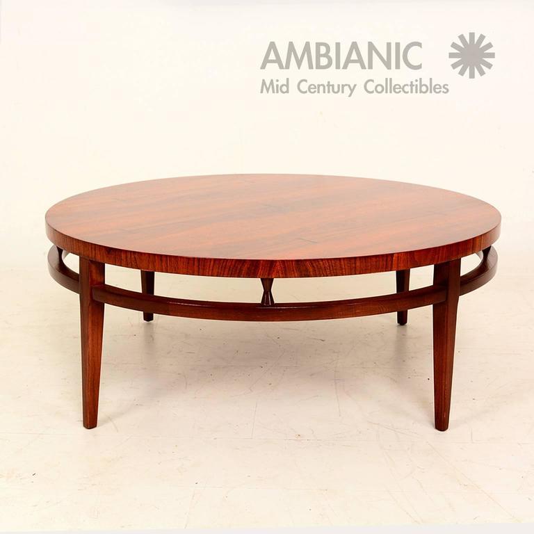 Round Mid Century Modern Coffee Table