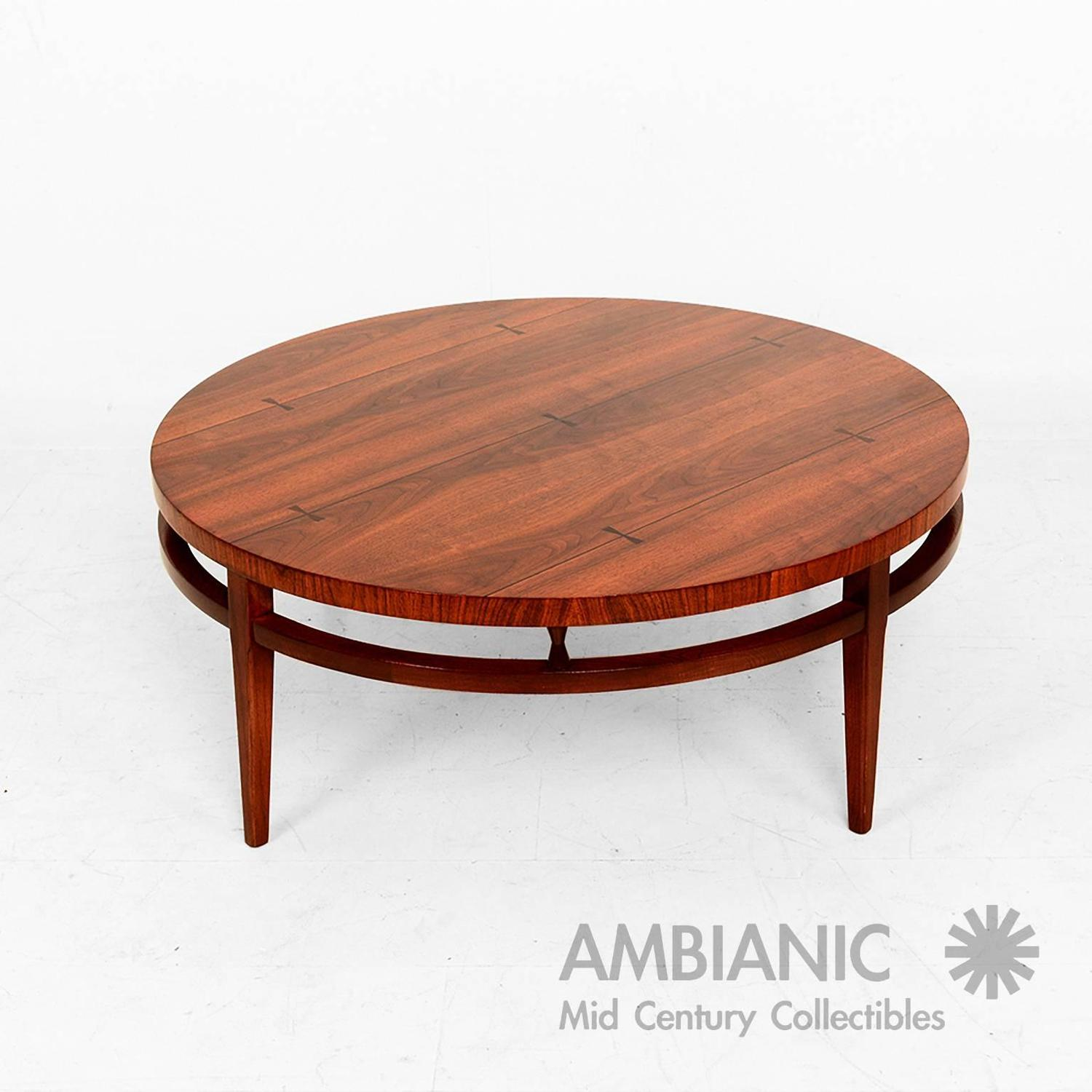 Mid Century Modern Round Coffee Cocktail Table By Lane After Paul