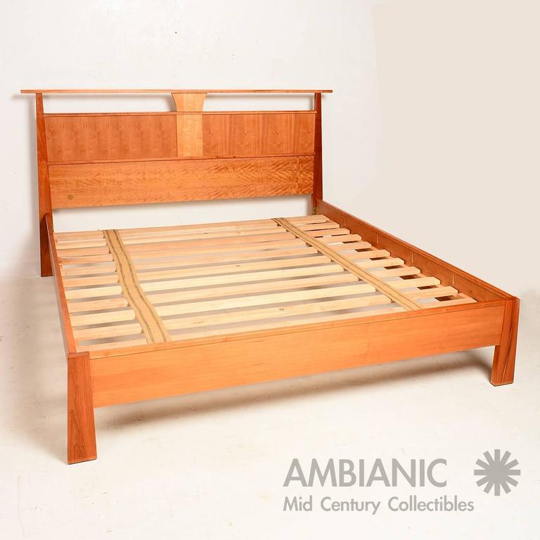Custom cal king bed by wood castle oregon nakashima for Reclaimed wood furniture portland oregon