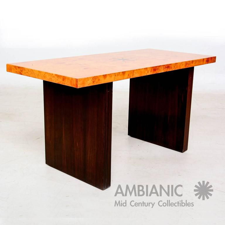 Andrew Szoeke Coffee Table Burl And Macassar For Sale At