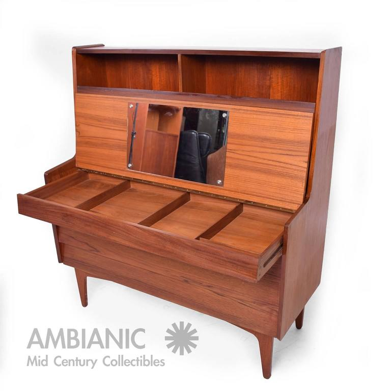For Your Consideration A Danish Mid Century Modern Secretary Desk Vanity With Pull