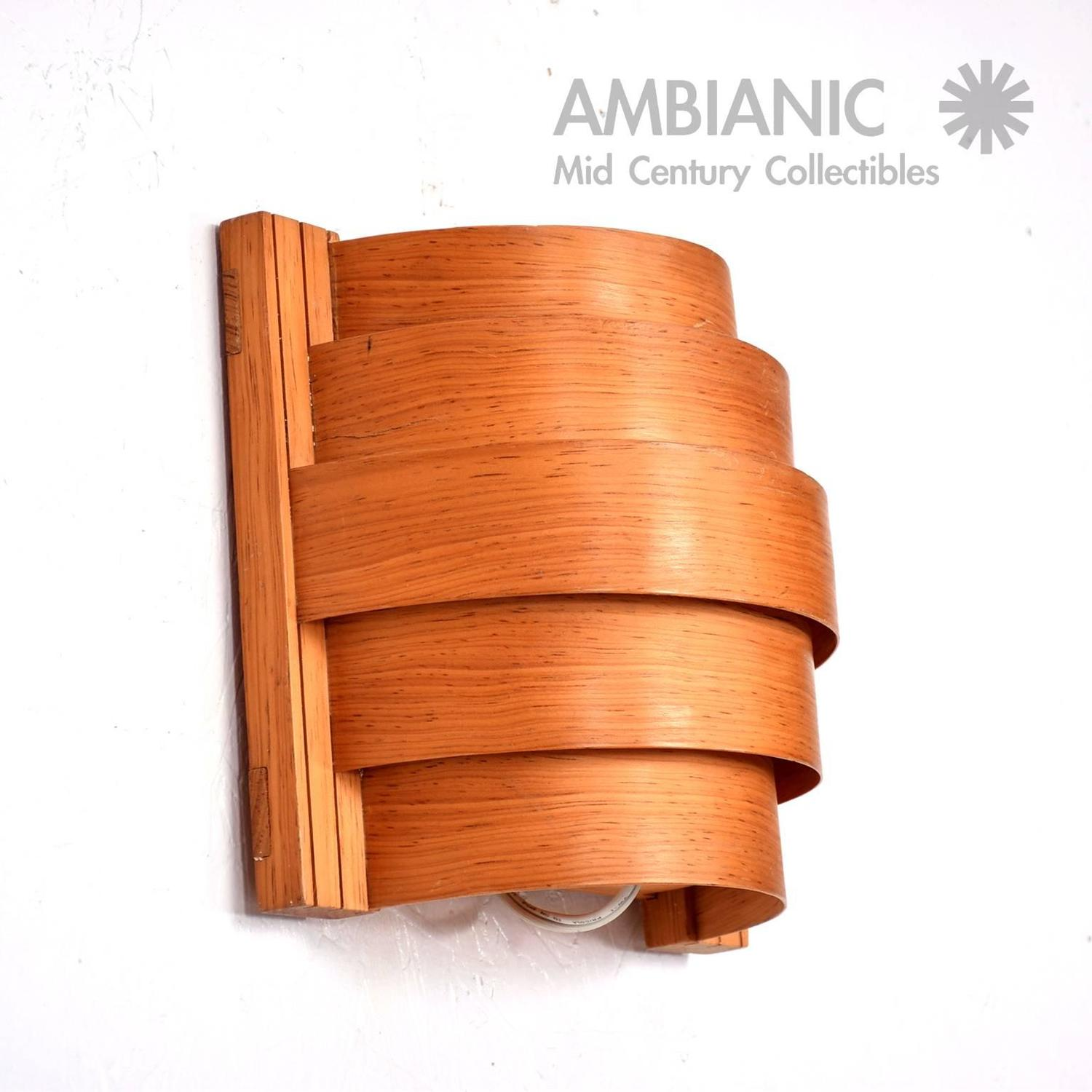 Mid-Century Modern Teak Wall Sconce, Scandinavian Mid-Century Modern For Sale at 1stdibs