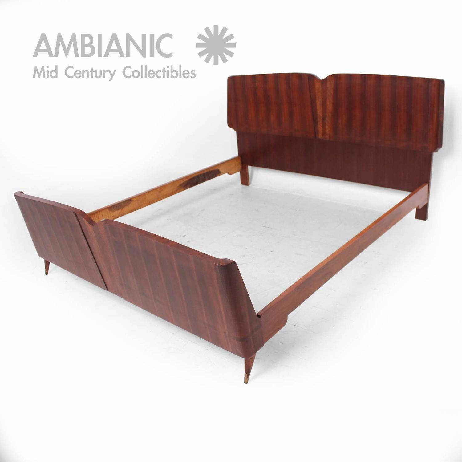 Mid century modern italian bed frame after borsani for sale at 1stdibs - How to build a modern bed frame ...