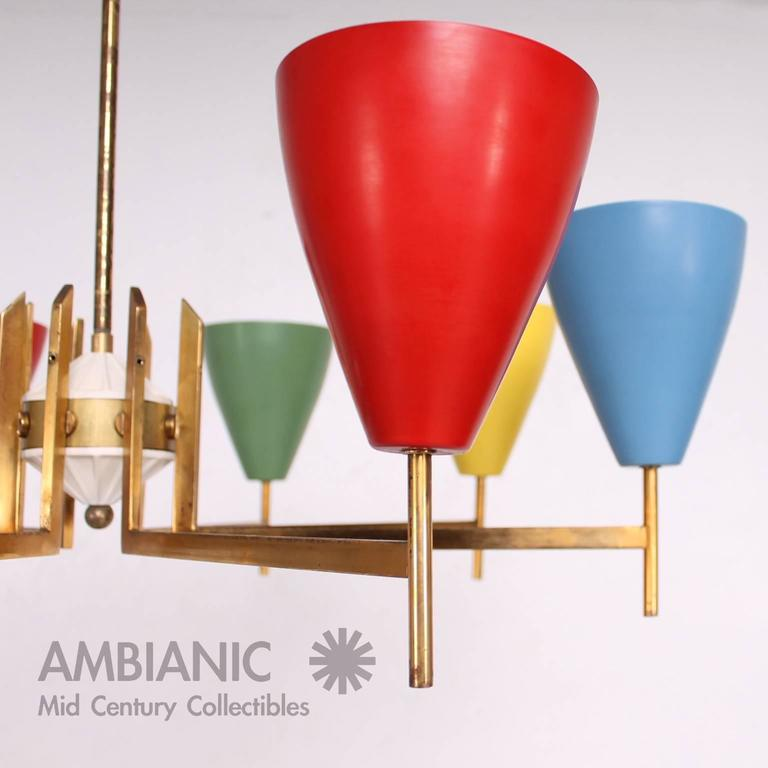 Mid-Century Modern Italian Chandelier after Arredoluce For Sale 2