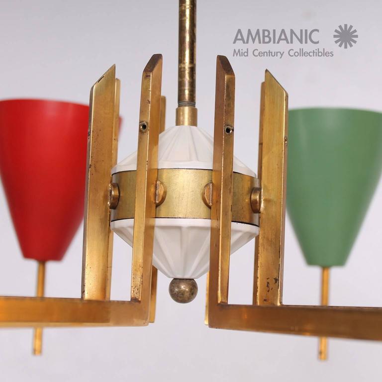 Mid-Century Modern Italian Chandelier after Arredoluce For Sale 3