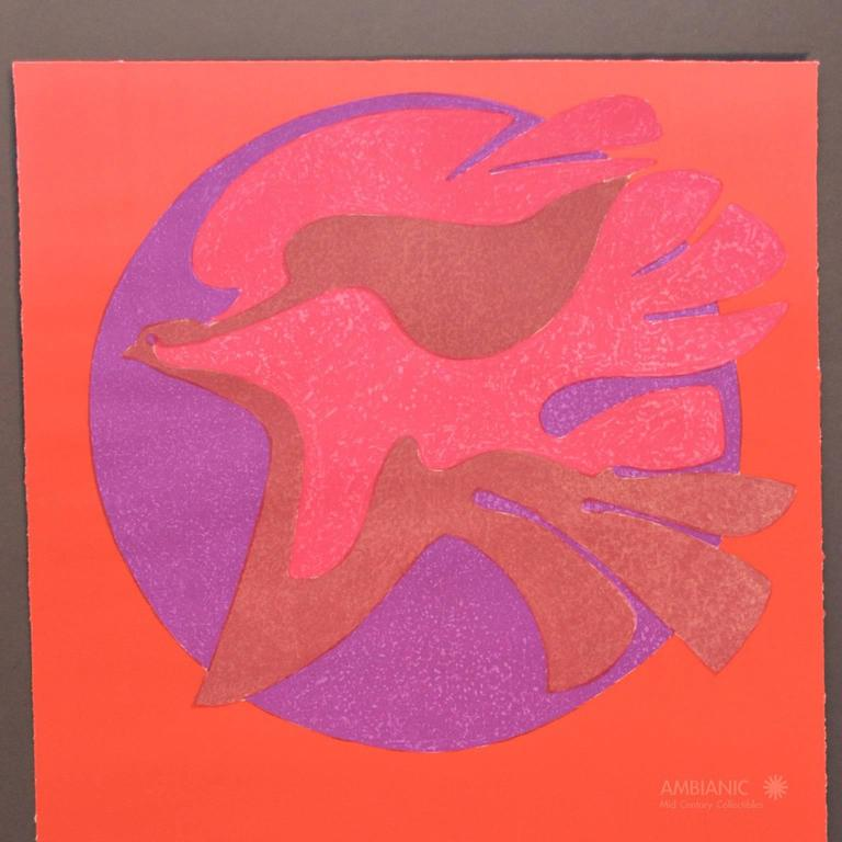 Pedro Coronel Litho 85-100 Dove, Untitled In Excellent Condition For Sale In National City, CA