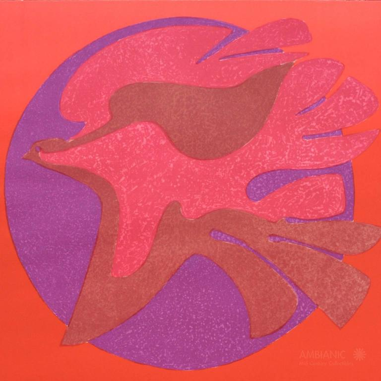 Late 20th Century Pedro Coronel Litho 85-100 Dove, Untitled For Sale