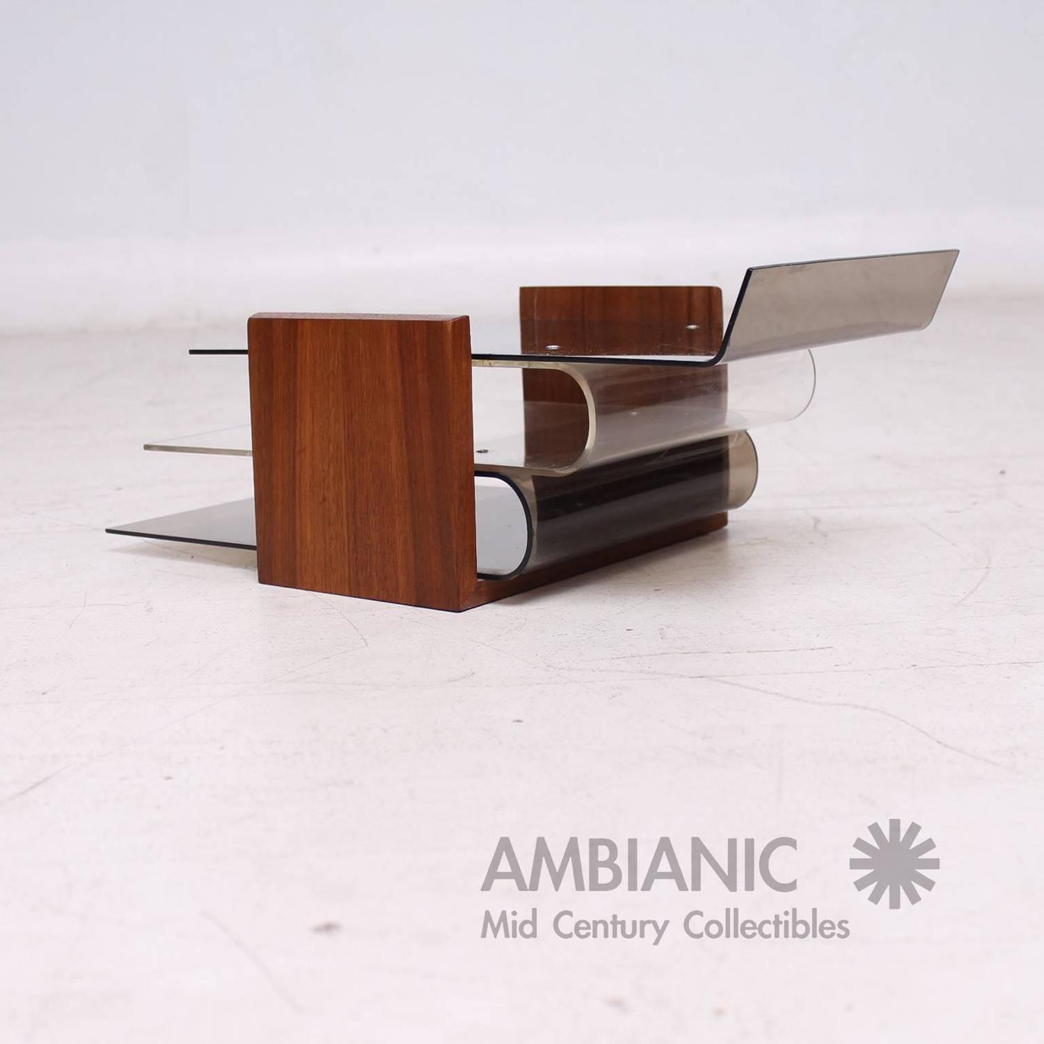 Mid century modern office tray eames nelson era desk for Mid modern period