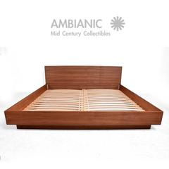 Custom Walnut Bed Made in California by Pablo Romo