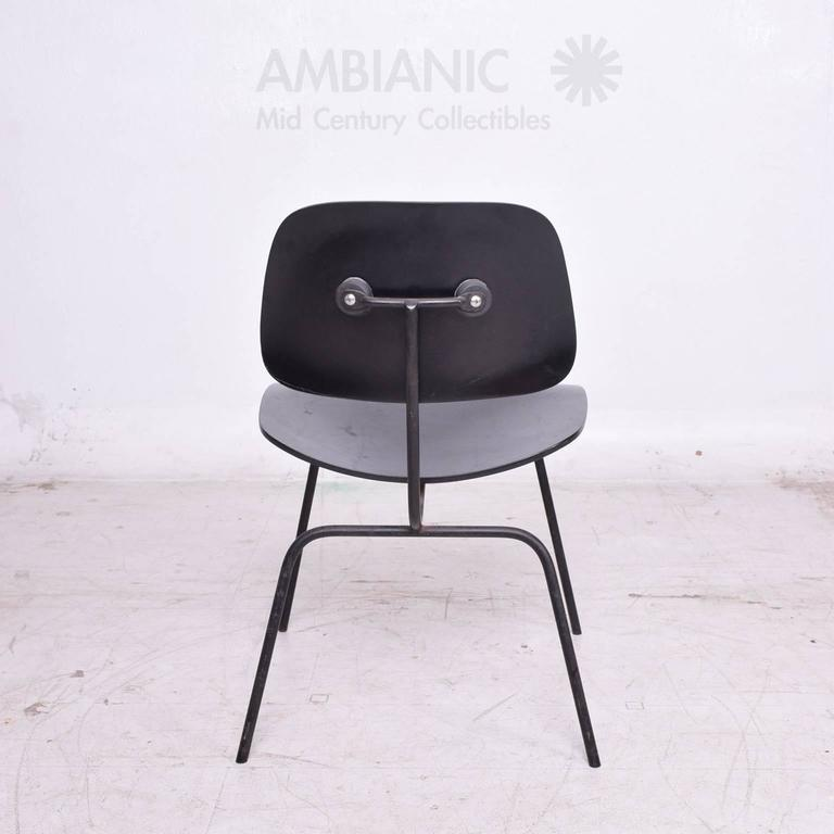 eames dcm chair in black mid century for sale at 1stdibs