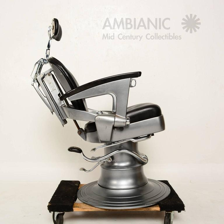 For your consideration a vintage barber chair manufactured in the USA by  Ritter. The precision - Ritter Art Deco Machine Age Barber Dentist Dental Chair At 1stdibs