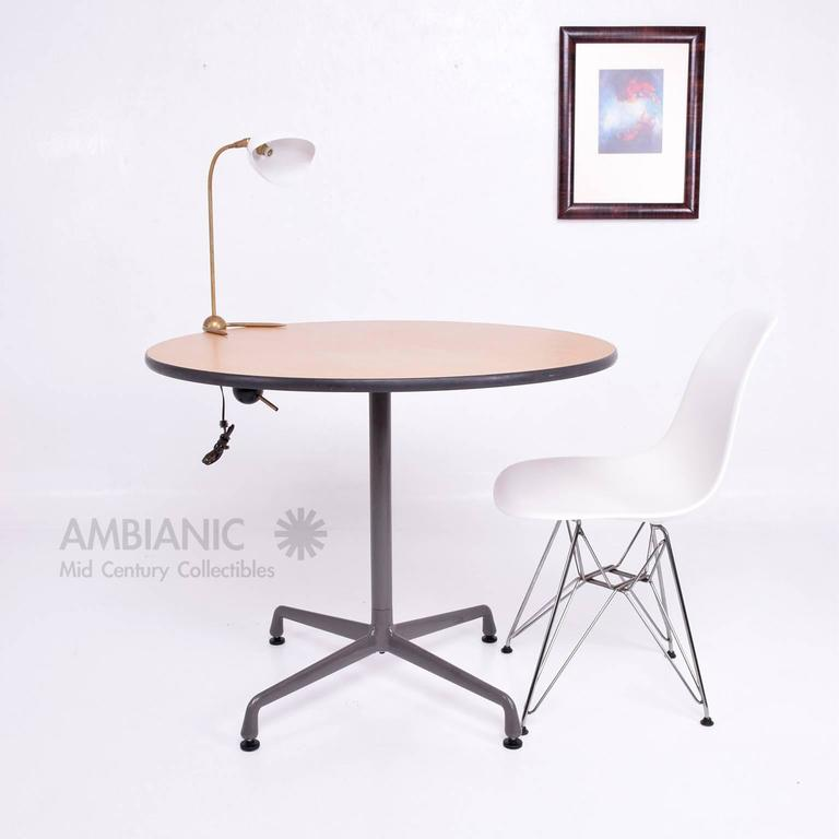 Herman miller eames round aluminum group table for sale at - Eames table herman miller ...