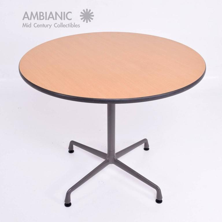 Herman miller eames round aluminum group table for sale at - Herman miller eames table ...