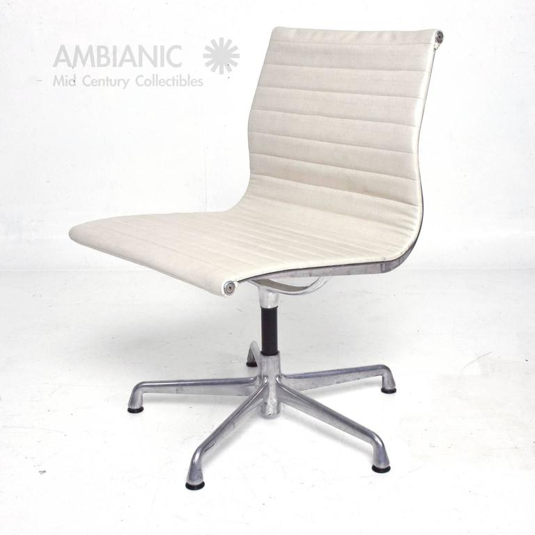 Early Aluminum Group Herman Miller Eames Chairs With Five