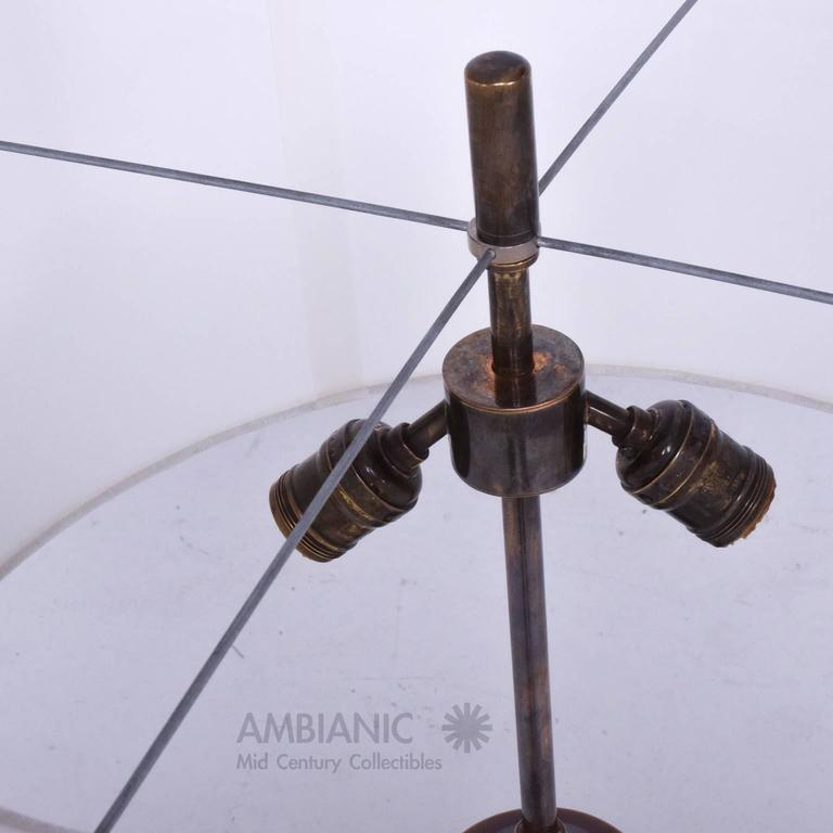 Mexican Modernist Table Lamp Aluminium and Brass Attributed Arturo Pani 2