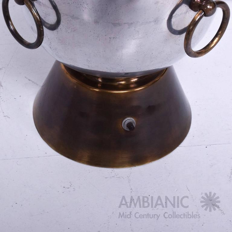 Mexican Modernist Table Lamp Aluminium and Brass Attributed Arturo Pani 5