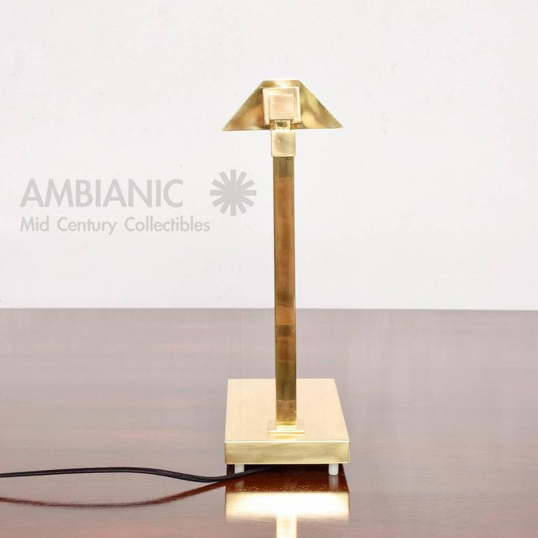 Brass Table Desk Lamp Mid-Century Modern  2