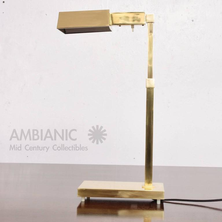Brass Table Desk Lamp Mid-Century Modern  4