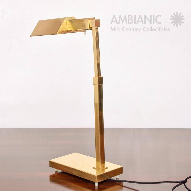 Brass Table Desk Lamp Mid-Century Modern  5