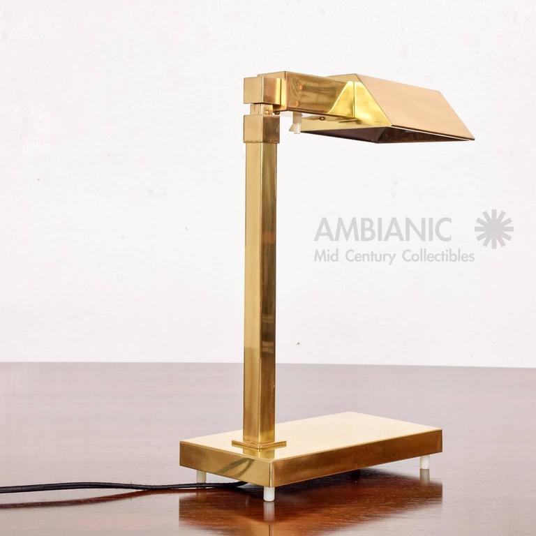 Brass Table Desk Lamp Mid-Century Modern  6