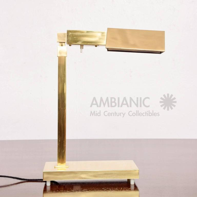 Brass Table Desk Lamp Mid-Century Modern  8