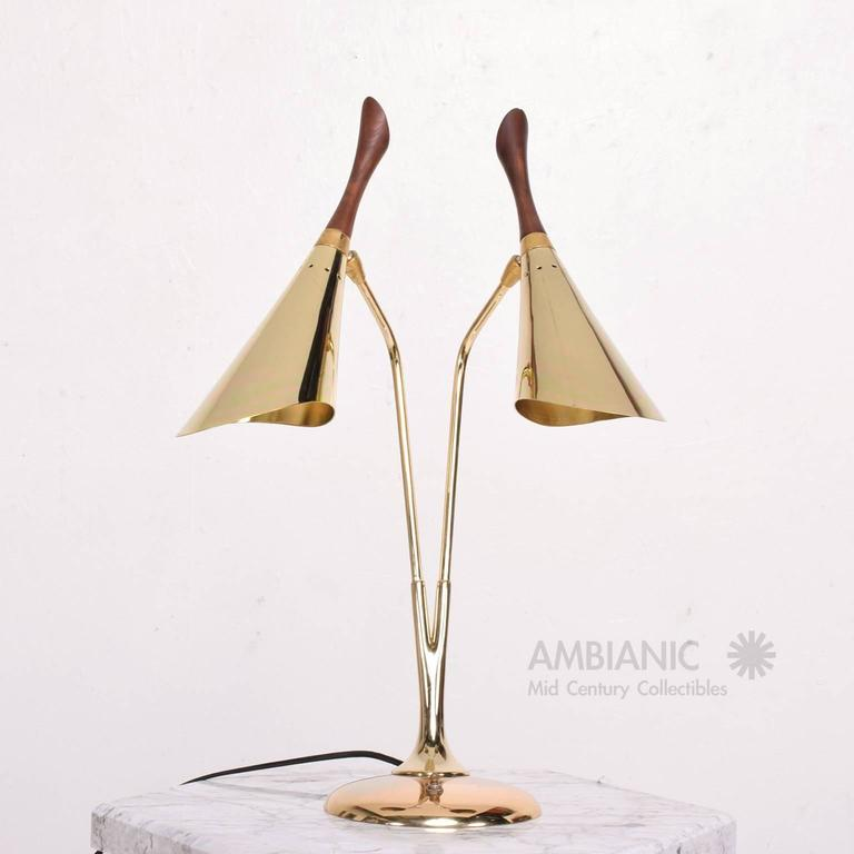 American Mid-Century Modern Table Desk Lamp Laurel For Sale
