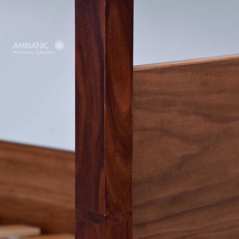 Walnut and Rosewood Bunkbeds Modern 5