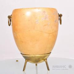 1950's Aldo Tura Goatskin and Brass Ice/Champagne Bucket. Mid Century