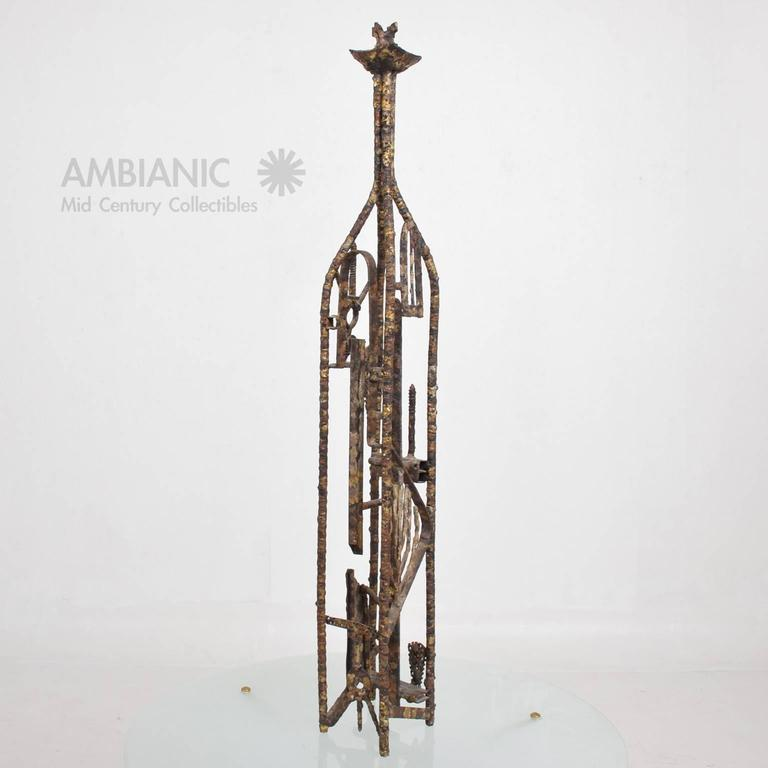 For your consideration a Mid-Century Modern Brutalist sculpture by Max Finkelstein.