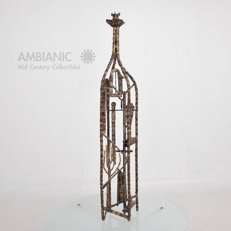 American Brutalist Mid-Century Modern Brutalist Sculpture by Max Finkelstein For Sale