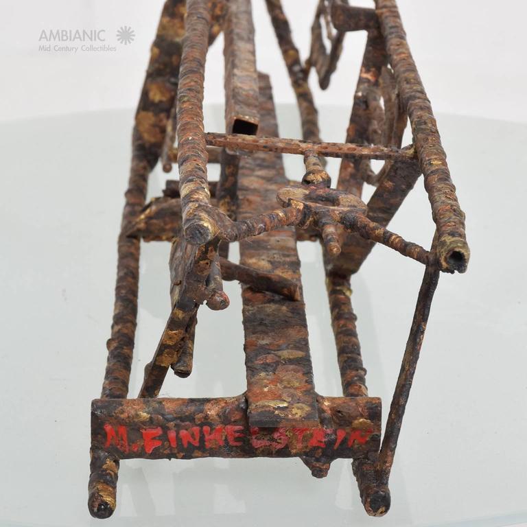 Late 20th Century Brutalist Mid-Century Modern Brutalist Sculpture by Max Finkelstein For Sale