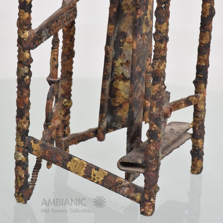 Brass Brutalist Mid-Century Modern Brutalist Sculpture by Max Finkelstein For Sale