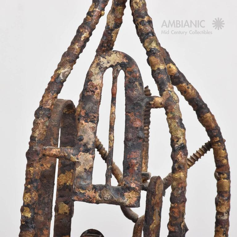 Brutalist Mid-Century Modern Brutalist Sculpture by Max Finkelstein For Sale 1