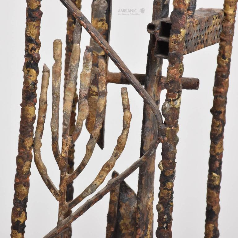 Brutalist Mid-Century Modern Brutalist Sculpture by Max Finkelstein For Sale 3