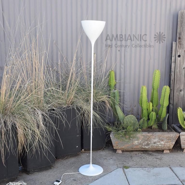 Aluminum Max Bill Floor Lamp Torchiere, Mid-Century Modern Period For Sale